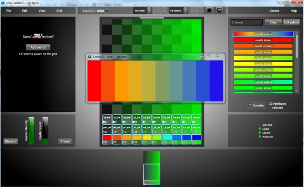 Color palette and gradient editor.