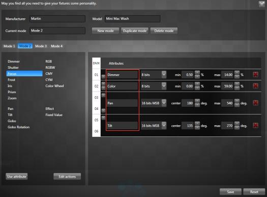 DMX Fixture Editor